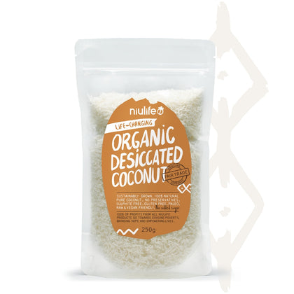 NIULIFE COCONUT PRODUCTS Niulife Organic Desiccated Coconut  250g