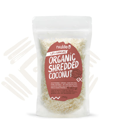 Niulife Organic Shredded Coconut 250g