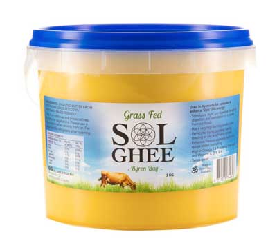 Sol Ghee Grass Fed  2KG Tub