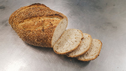 Almond Road's Organic Sourdough Varieties - sliced
