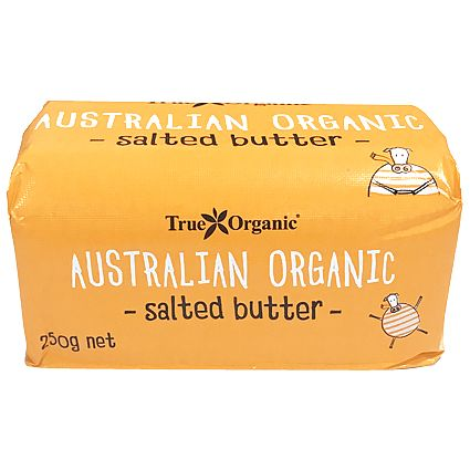 True Organic Cultured Butter Salted 250g