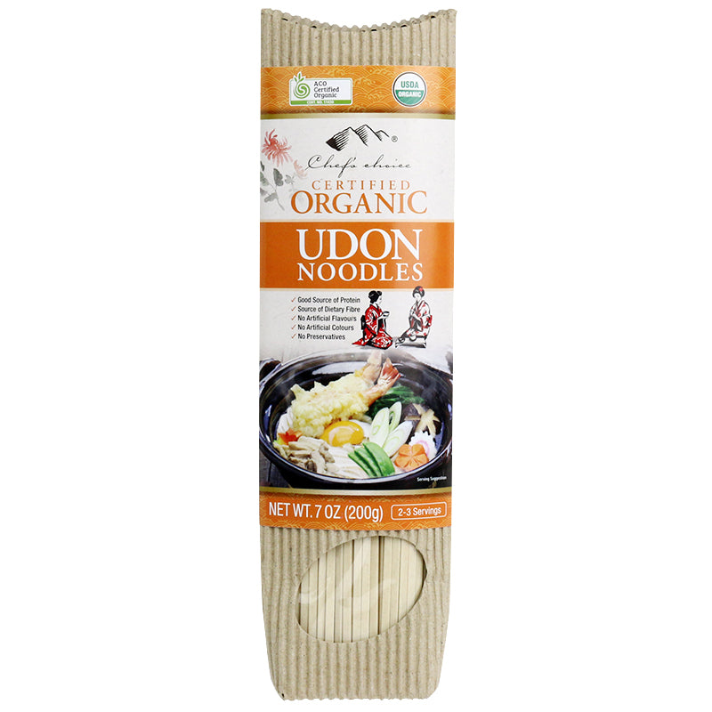 Chef's Choice Organic Udon Stick Noodle  200g