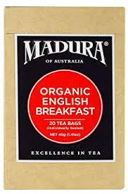 Madura Organic English Breakfast Tea, 20 Bags