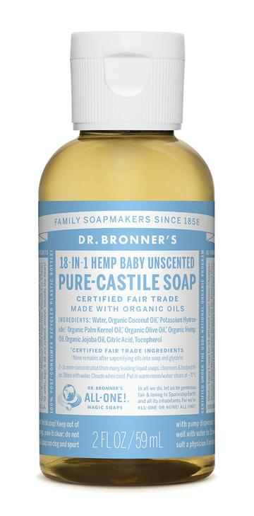 DR. BRONNERS CASTILE LIQUID SOAPS Baby Mild unscented 59ml