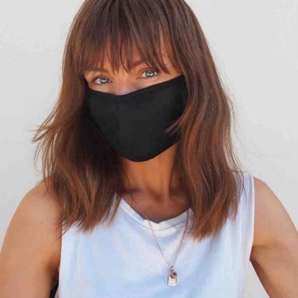 Adult Reusable Face Mask, Black - Fruity Sacks