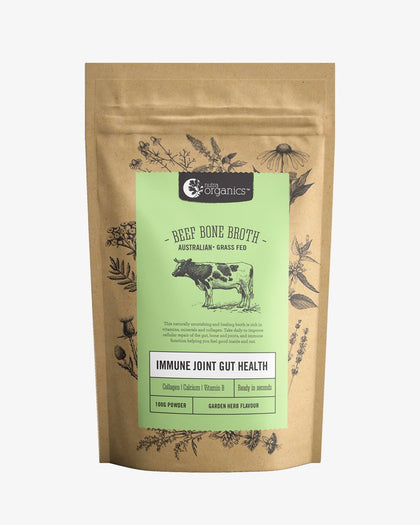 NUTRA ORGANICS Beef Bone Broth Powder - Herb & Garlic  100g