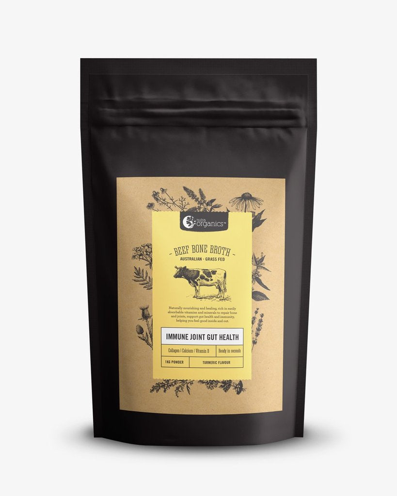NUTRA ORGANICS Beef Bone Broth Powder - Turmeric  1KG