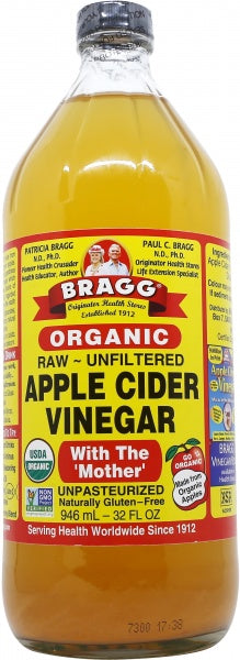 BRAGGS Certified Organic Raw Apple Cider Vinegar 946ml