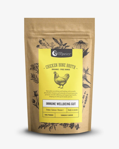 NUTRA ORGANICS Chicken Bone Broth Powder - Turmeric  100g