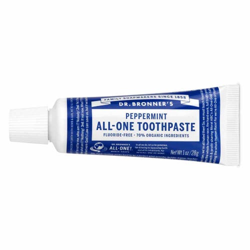 DR. BRONNERS Peppermint Toothpaste - Travel Size 28g
