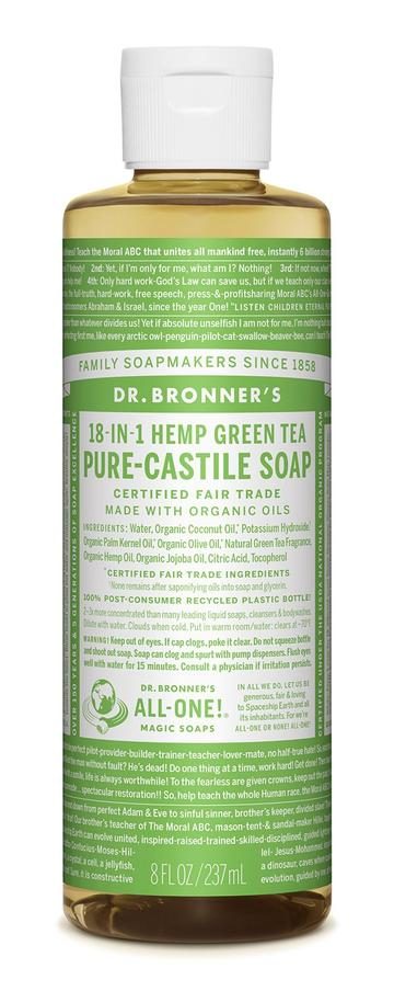 DR. BRONNERS CASTILE LIQUID SOAPS   Green Tea 237ml