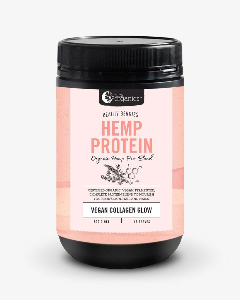 NUTRA ORGANICS Hemp Protein Beauty Berries (Vegan Collagen Glow)  500g