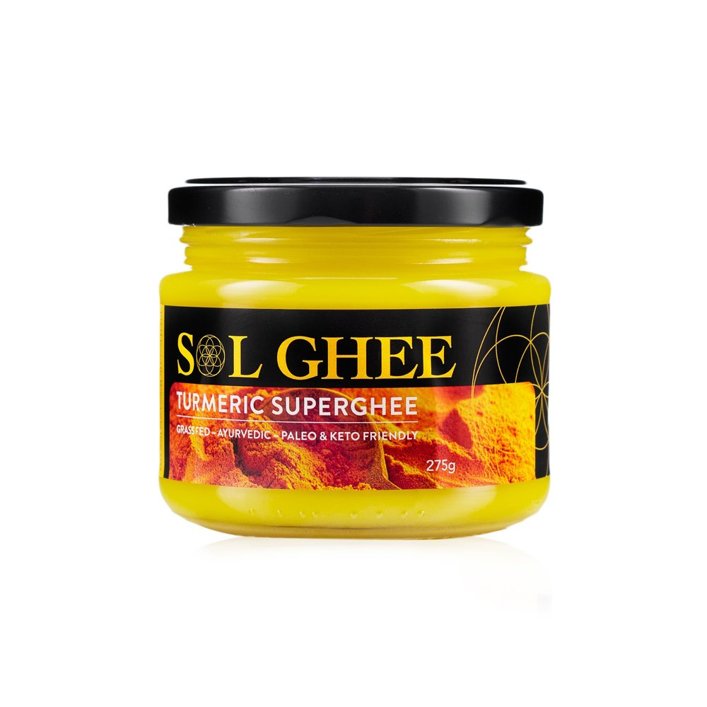 Sol Ghee Turmeric Superghee  275g Glass jar
