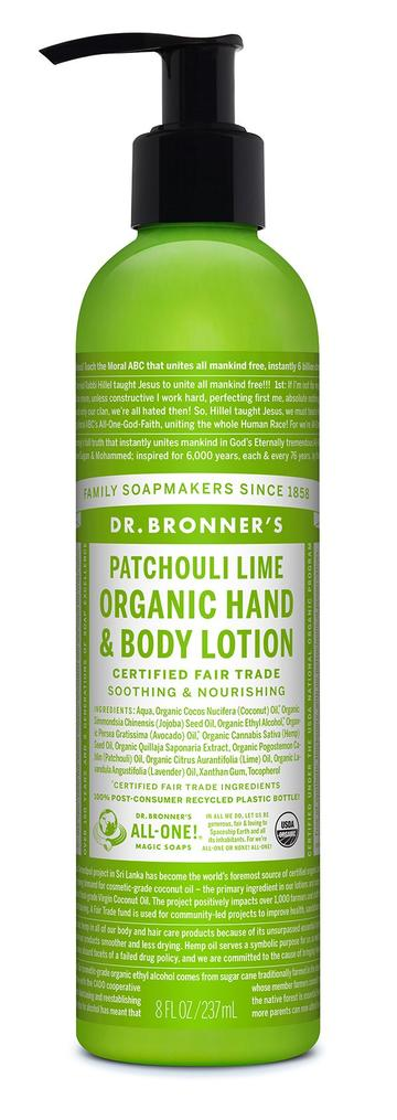 DR.BRONNERS HAND  BODY LOTIONS Patchouli Lime 237ml