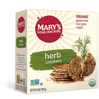 MARY'S GONE CRACKERS Herb Crackers  184g