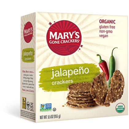 MARY'S GONE CRACKERS Hot & Spicy Jalapeno Crackers  155g
