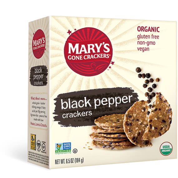 MARY'S GONE CRACKERS Black Pepper Crackers  184g