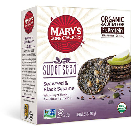 MARY'S GONE CRACKERS Super Seed - Seaweed Sesame Crackers   155g