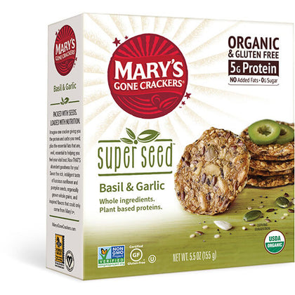 MARY'S GONE CRACKERS Super Seed - Basil & Garlic Crackers   155g