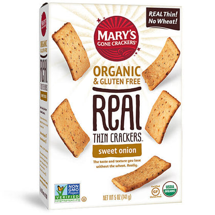 MARY'S GONE CRACKERS Real Thins - Sweet Onion  141g