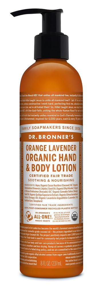 DR.BRONNERS HAND  BODY LOTIONS Orange Lavender 237ml