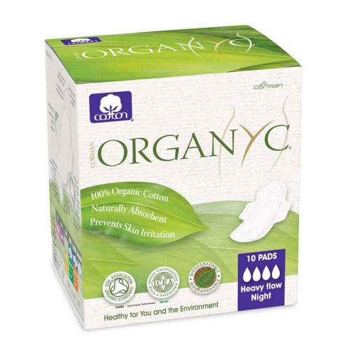 ORGANYC Ultra Thin Pads - Heavy with Wings