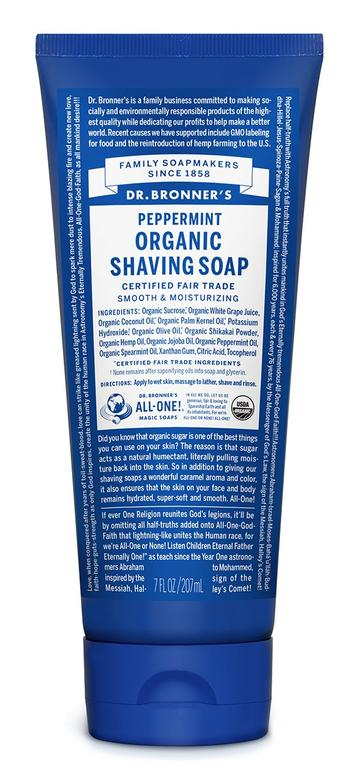 DR. BRONNERS SHAVING SOAPS Peppermint 207ml