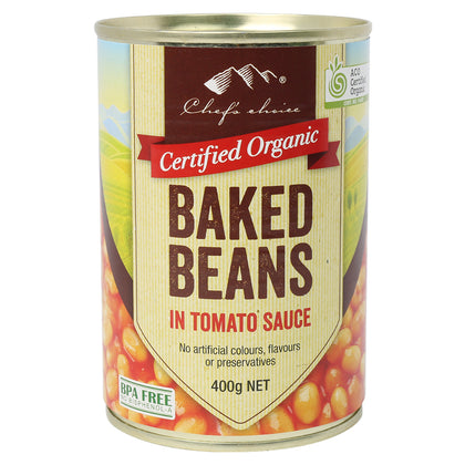 CHEF'S CHOICE Organic Baked Beans in Tomato Sauce  400g
