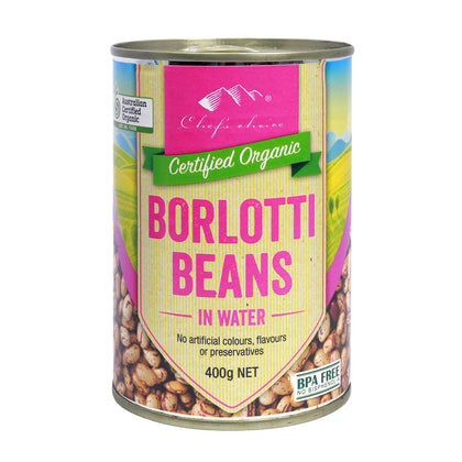 CHEF'S CHOICE Organic Borlotti Beans (Can)
