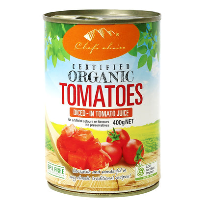 CHEF'S CHOICE Organic Diced Tomatoes  400g