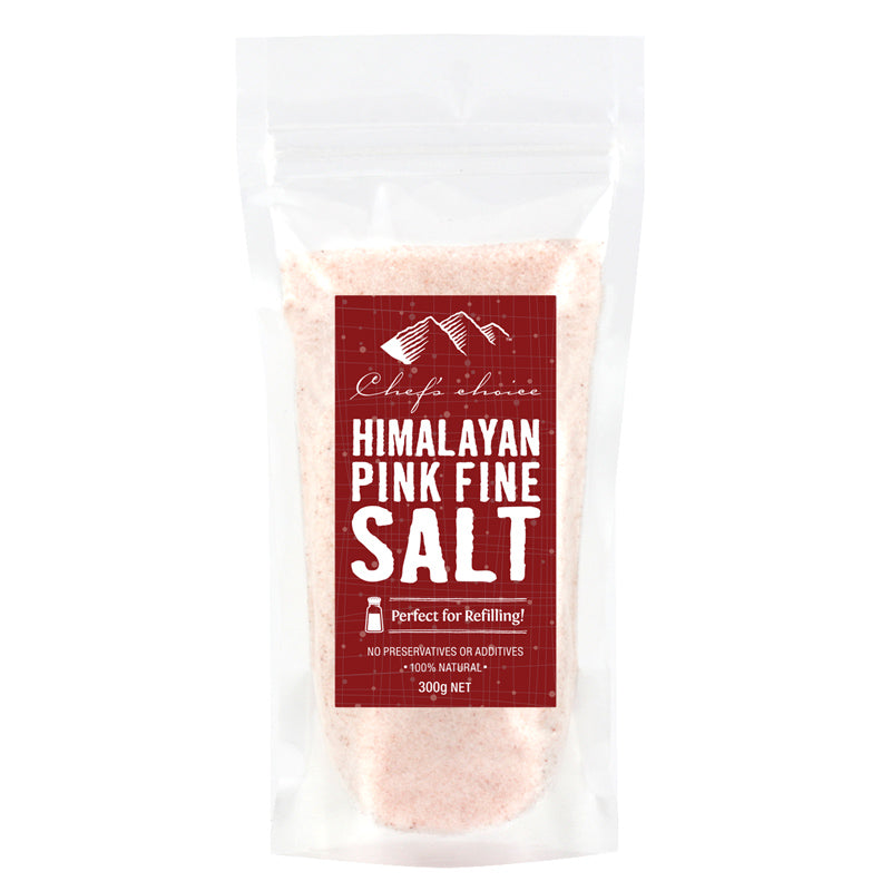 Chef's Choice Himalayan Pink Fine Salt Standing Pouch 300g