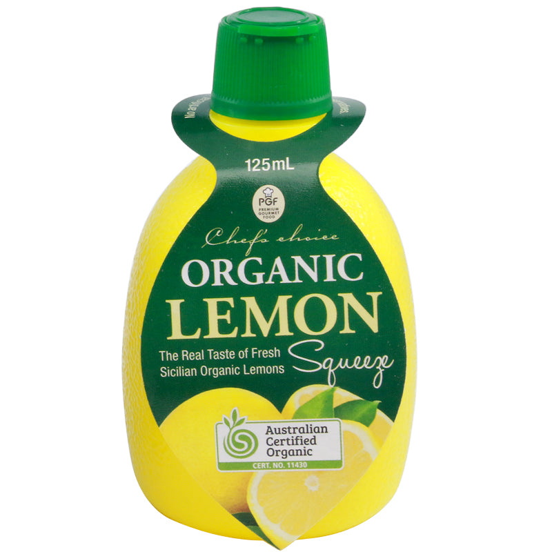 Chef's Choice Organic Lemon Juice  125ml