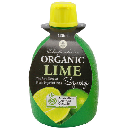 CHEF'S CHOICE Organic Lime Juice  125ml