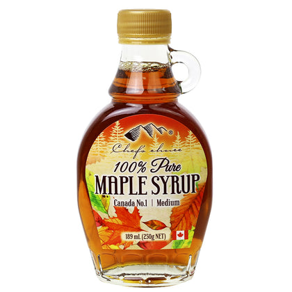 CHEF'S CHOICE 100% Pure Maple Syrup Glass Handled  189ml