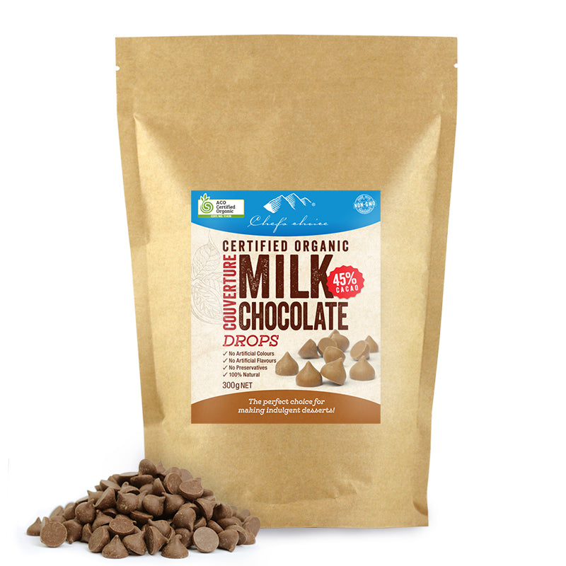 Chef's Choice Organic Milk Chocolate Drops  300g