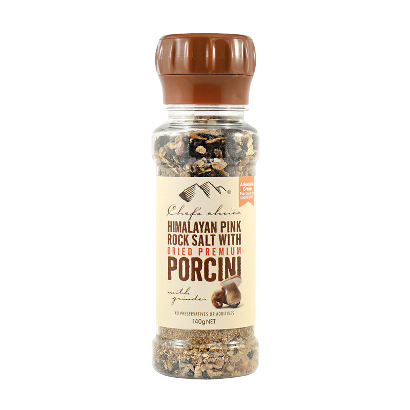 Chef's Choice Himalayan Pink Rock Salt with Porcini Grinder