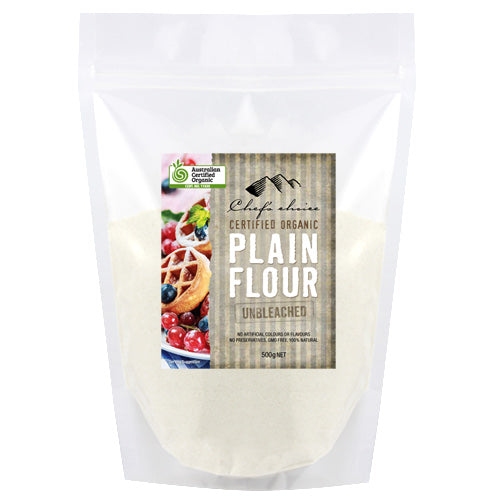 Chef's Choice Organic Plain Flour Unbleached  500g