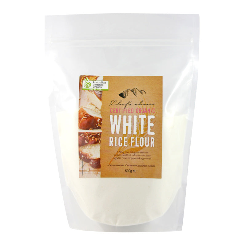 Chef's Choice Organic White Rice Flour  500g