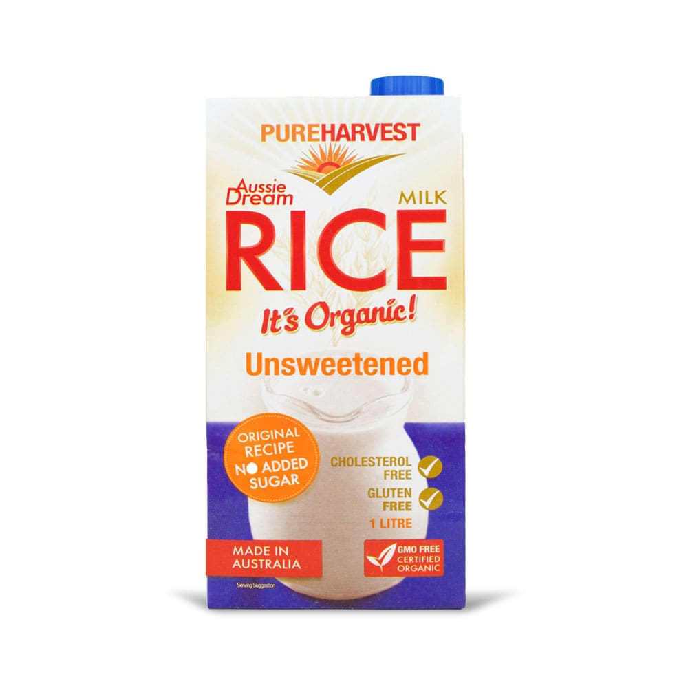 Pureharvest Organic Rice Milk - Unsweetened ( Aussie Dream)