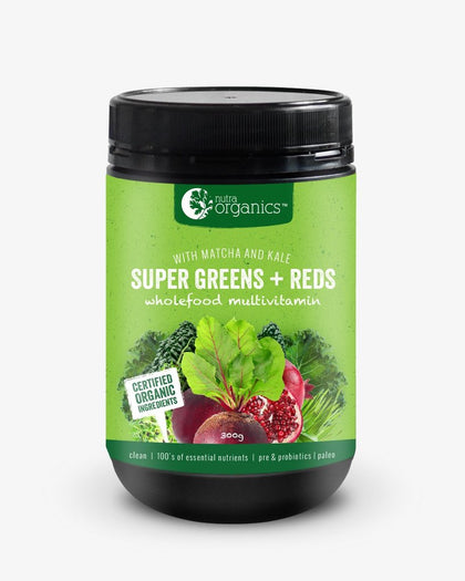 NUTRA ORGANICS Super Greens + Reds Powder 300g