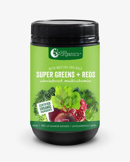 NUTRA ORGANICS Super Greens + Reds Powder 600g