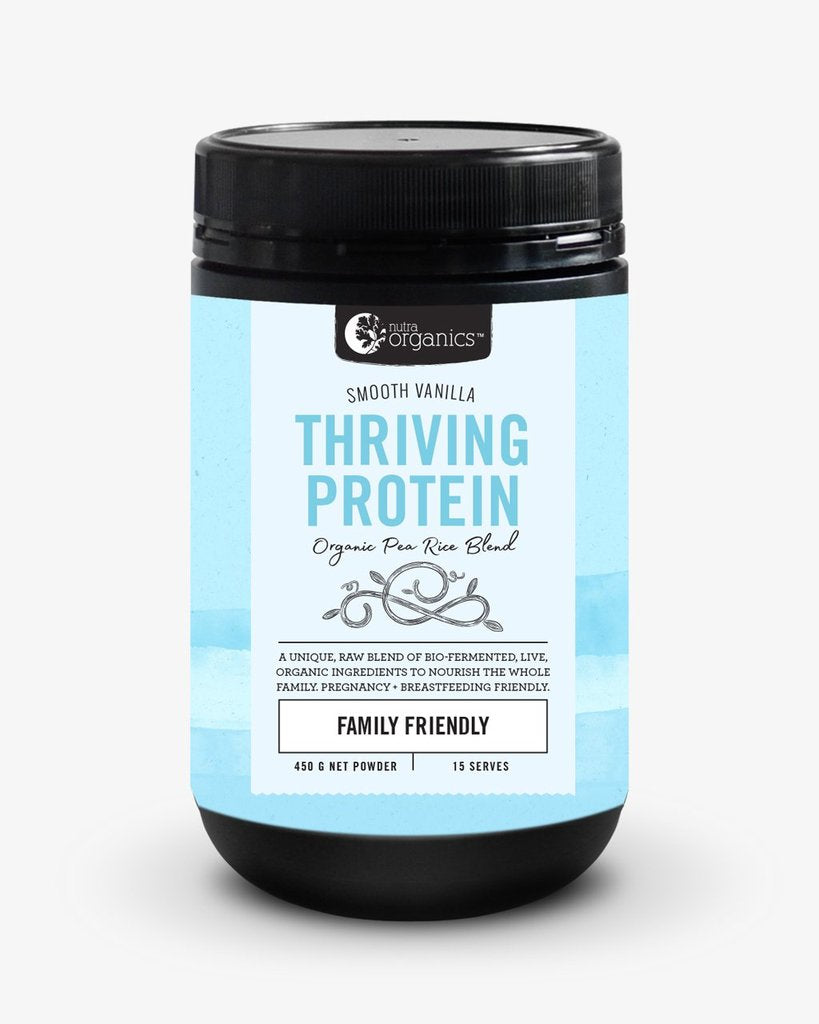 NUTRA ORGANICS Thriving Protein - Smooth Vanilla  450g