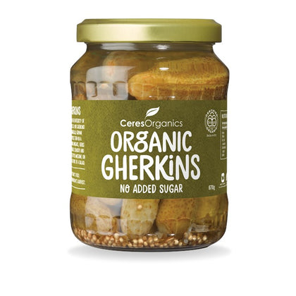 CERES ORGANICS Ceres Organic Gherkins Whole, no added sugar  670g