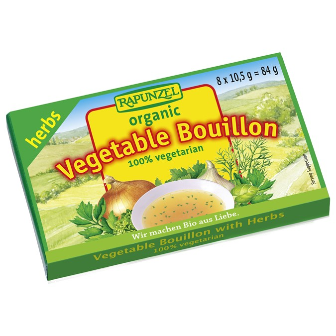 Rapunzel Vegetable Bouillon Organic Stock Cubes w/ Herbs  8x10.5g