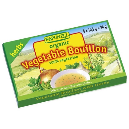 CERES ORGANICS Rapunzel Vegetable Bouillon Cubes w/ Herbs  8x10.5g