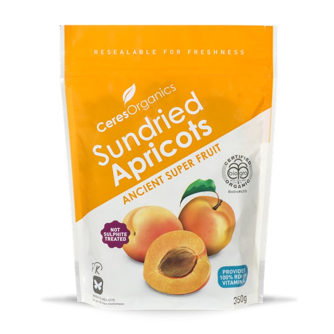 Ceres Organic Apricots Whole, Sweet & Dried  350g