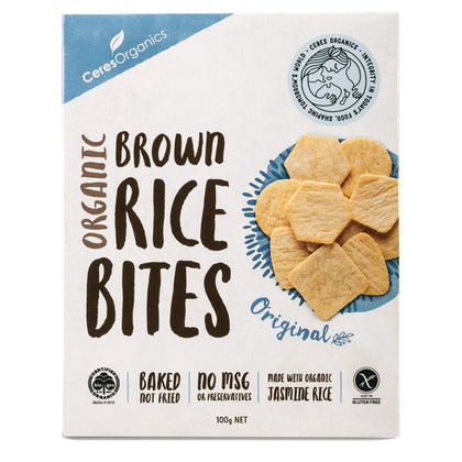 Ceres Organic Rice Bites - Sea Salt  100g