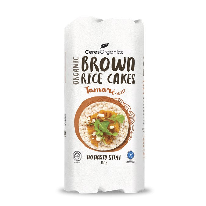 Ceres Organic Brown Rice Cakes - Tamari Soy  G/F  110g