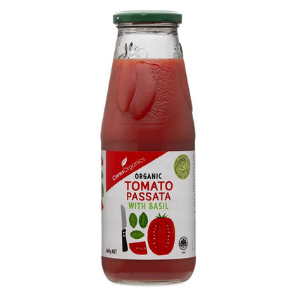CERES ORGANICS Ceres  Organic Tomato and Basil Passata  680ml