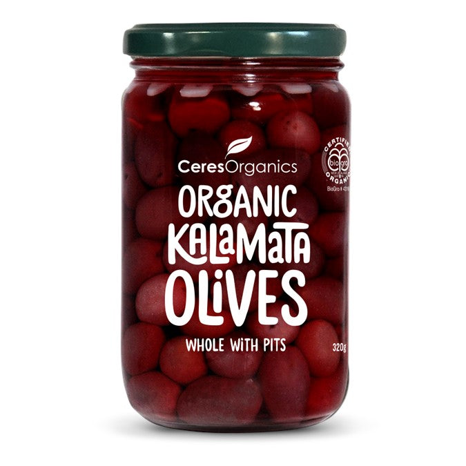 Ceres Organic Kalamata Olives Whole w/ pits  320g